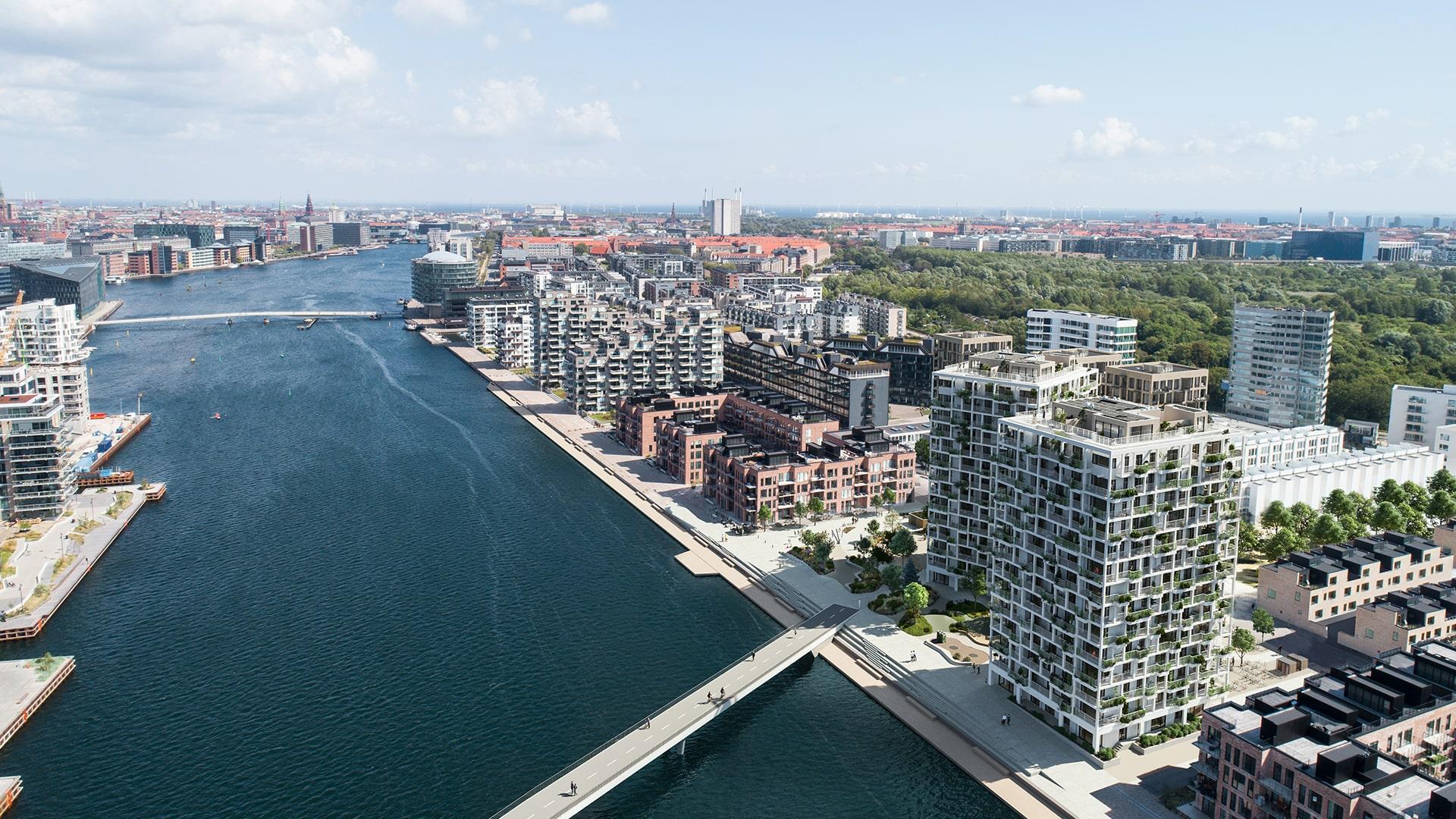 Bebyggelse øst for HavneBryggen Sirius er under projektering, og der tages forbehold for ændringer.
